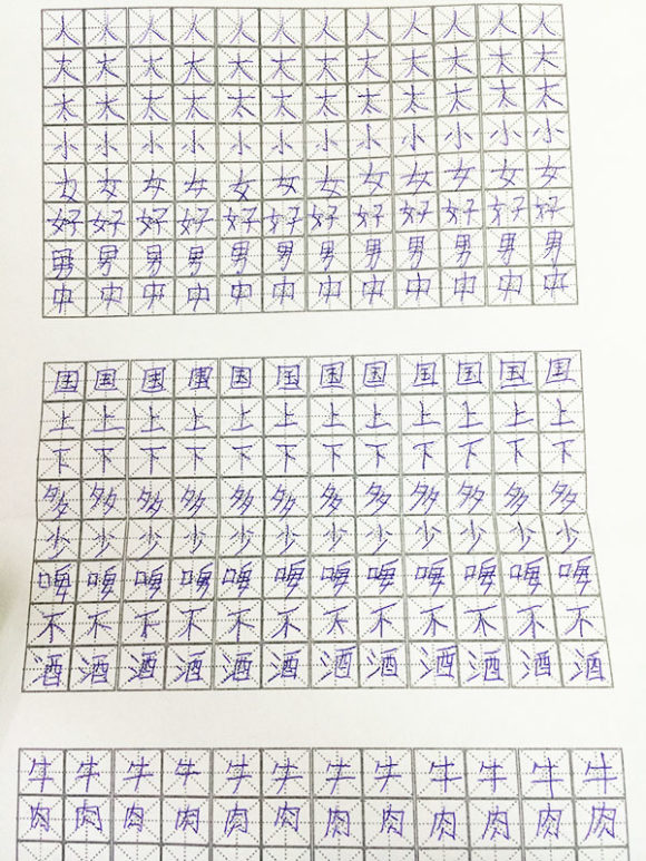 Writing Chinese Characters