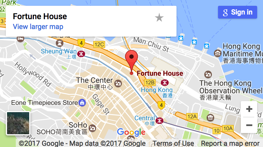 Hong kong Center Map