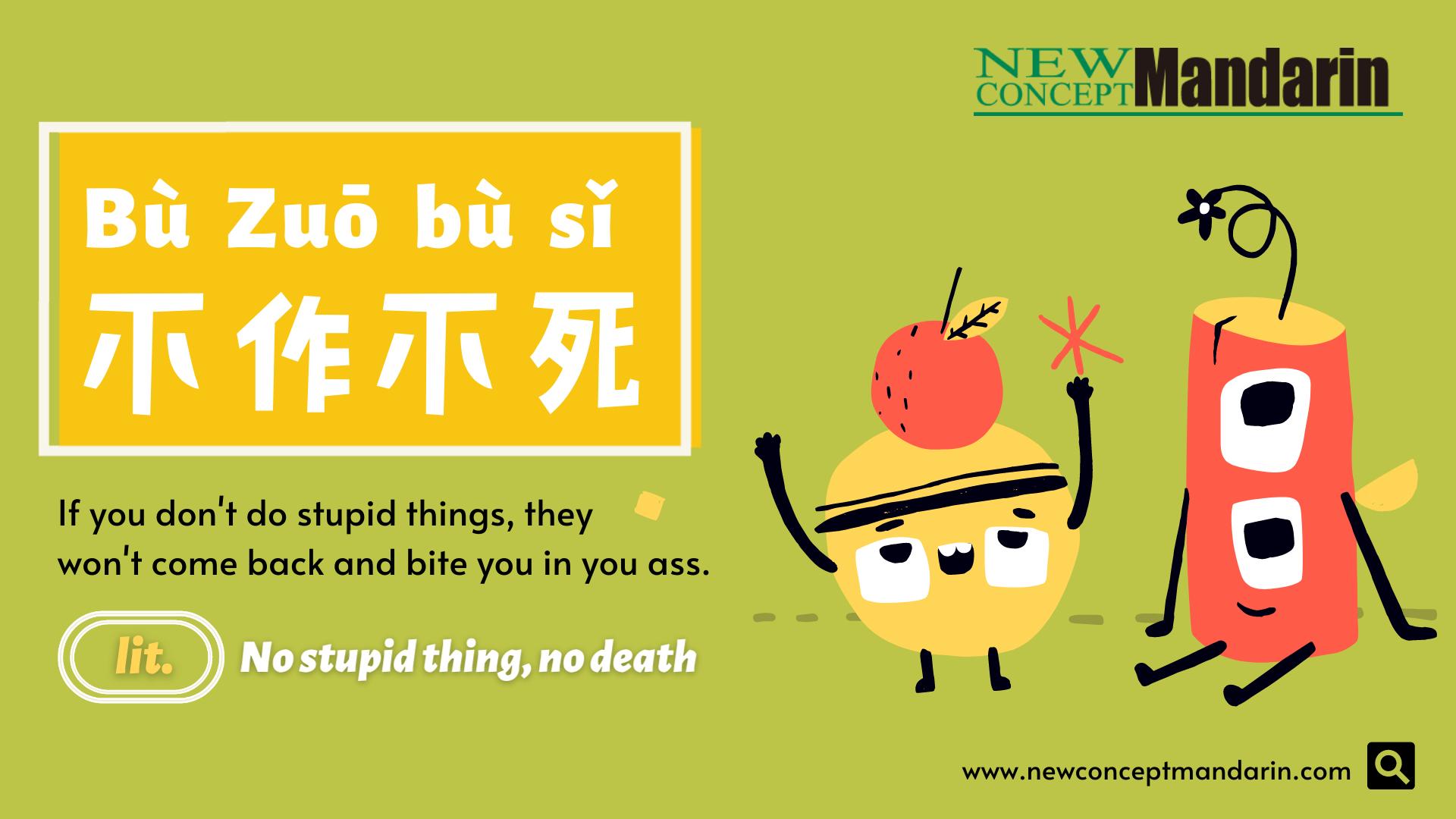Chinese Buzzword-nozuonodie